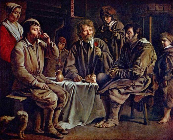 «Трапеза крестьян» 1642