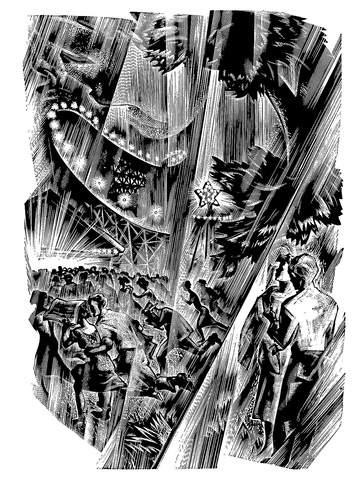 """""""Vertigo - rain at fair"""" (1937)"""