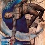 Антей, опускающий Данте и Вергилия в последний круг Ада