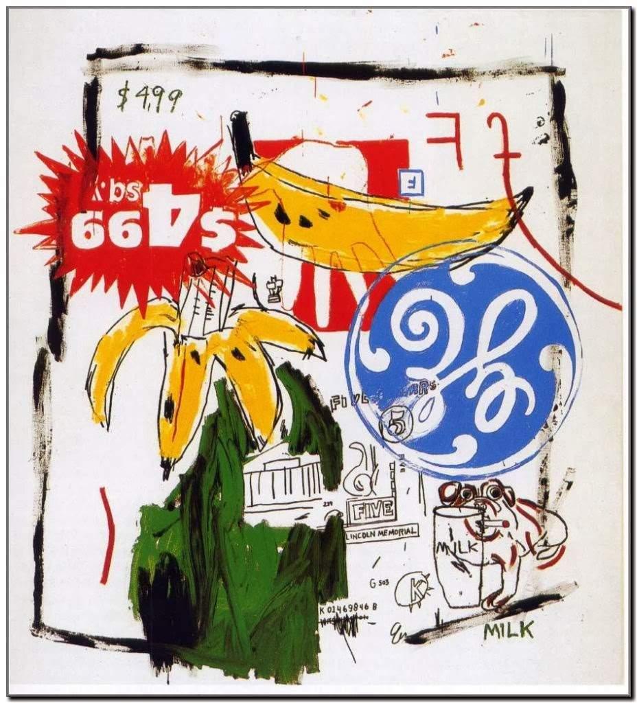 "Basquiat Jean Michel & Warhol Andy ""Bananas"" 1984"