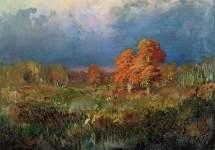 Болото в лесу. Осень 1873