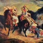 Combat of the Giaour and the Pasha, Делакруа Эжен
