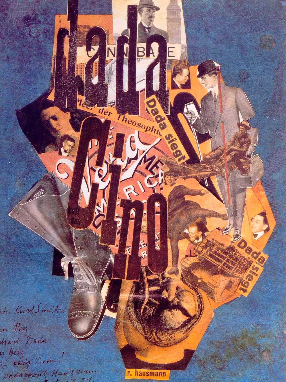 Дадаизм коллаж Hausmann, Dada Cino 1920