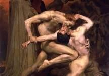 Данте и Вергилий в аду
