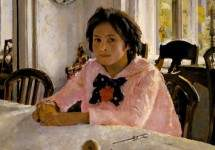 Девочка с персиками. Портрет В. С.Мамонтовой