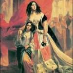 Графиня Ю.П.Самойлова, удаляющаяся с бала с приемной дочерью А.Паччини