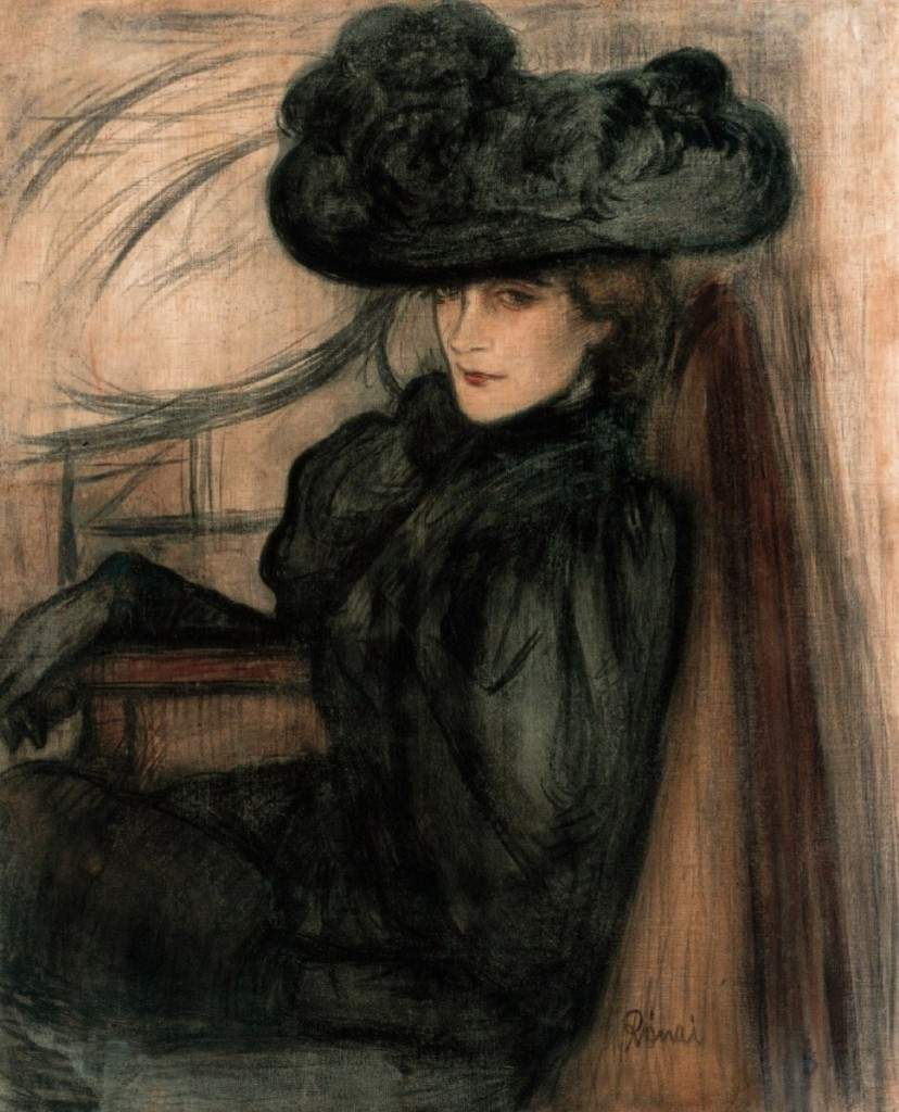 Lady with a Black Veil (Portrait of Mme Mazet), 1896