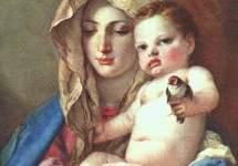 Мадонна со щеглом . Около 1760