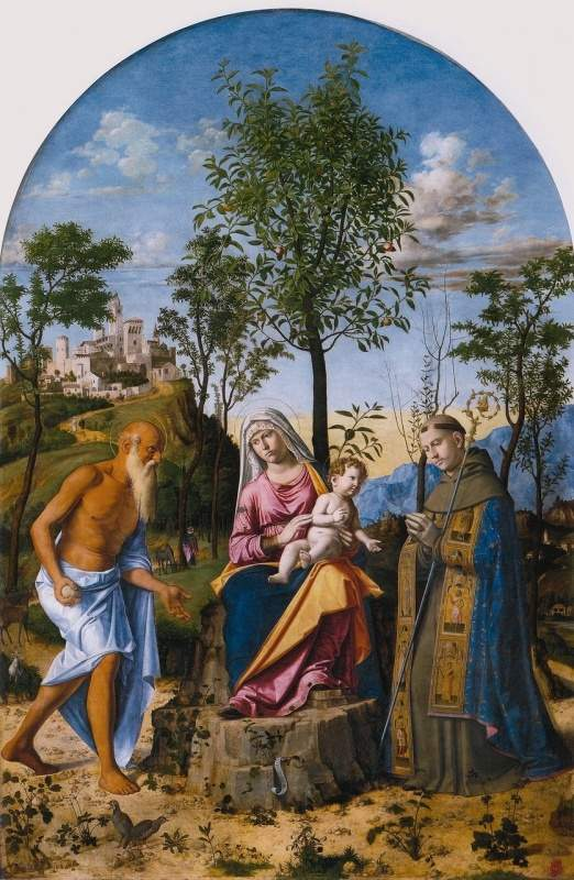 """""""Мадонна с апельсиновым деревом"""" 1495"""