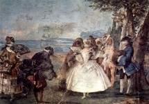 Менуэт в исполнении Коломбины и Панталоне