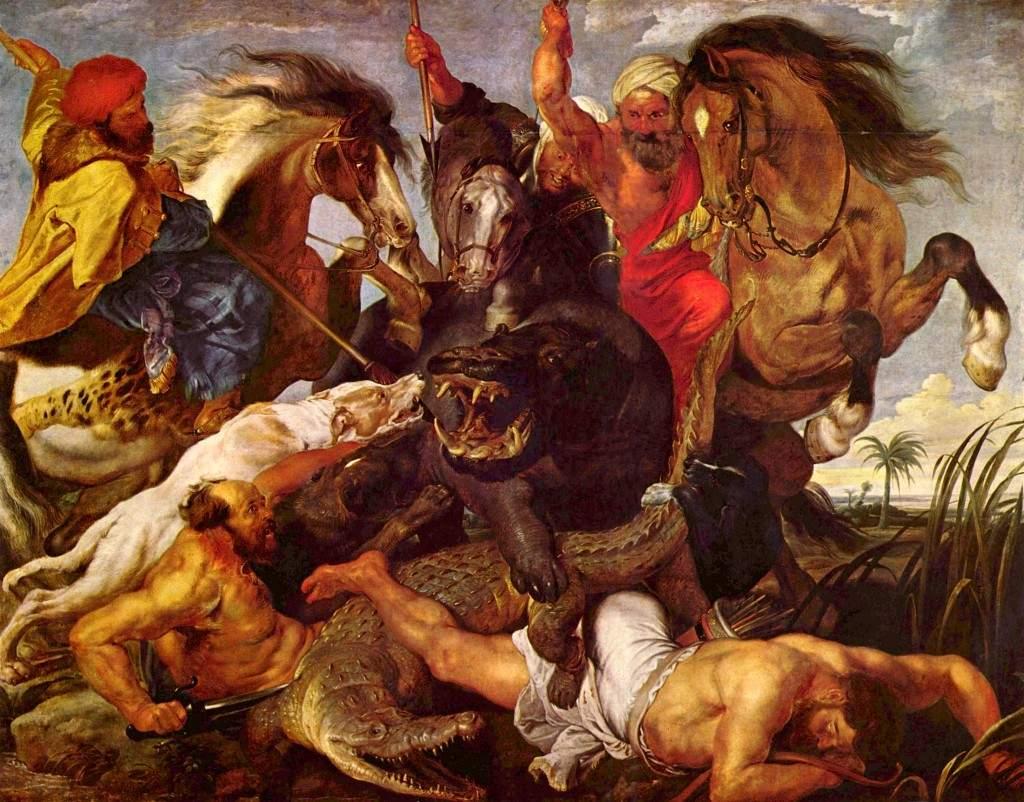 """""""Охота на гиппопотама"""" 1618"""