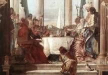 Пир Клеопатры . 1747—50. Фрагмент