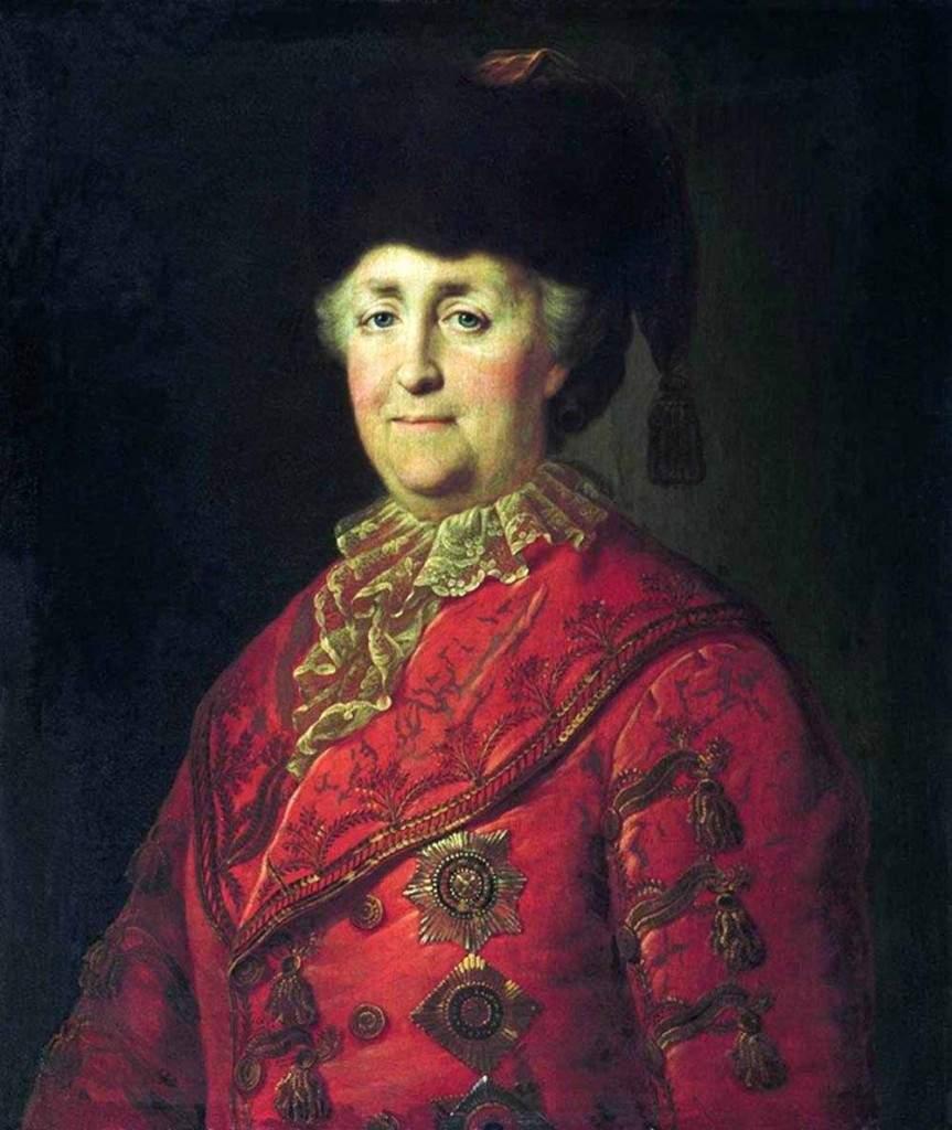 Портрет Екатерины II в дорожном костюме