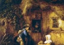 Путник у входа в дом, 1649
