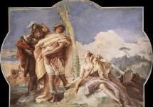 Ринальдо, покидающий Армиду . 1757