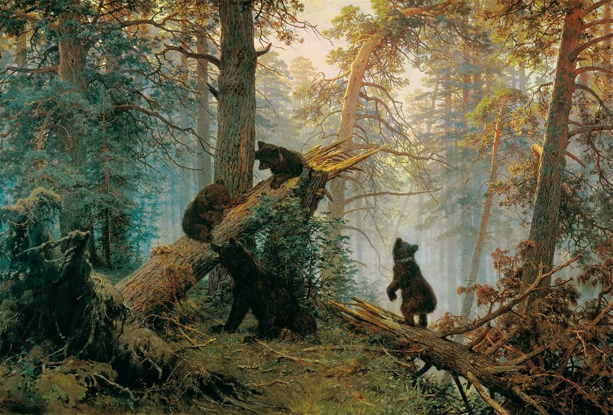 Утро в сосновом лесу, Иван Шишкин
