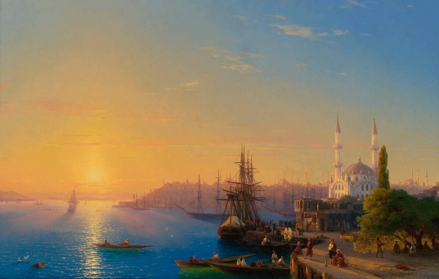 Вид-Константинополя-и-Босфора