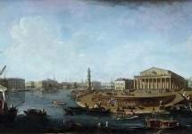 Вид на Биржу и Адмиралтейство от Петропавловской крепости