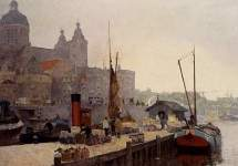 A View Of Amsterdam With The St. Nicolaas Church
