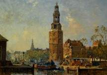A View of the Montelbaanstoren Amsterdam 1925