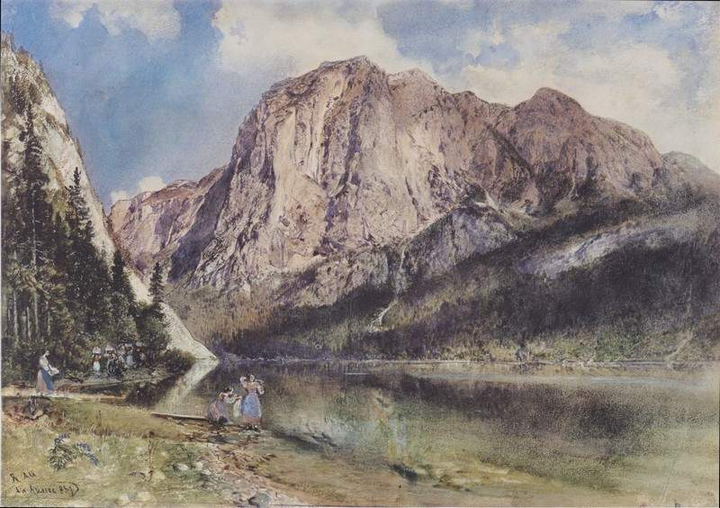 Altausseersee with Trisselwand 1837