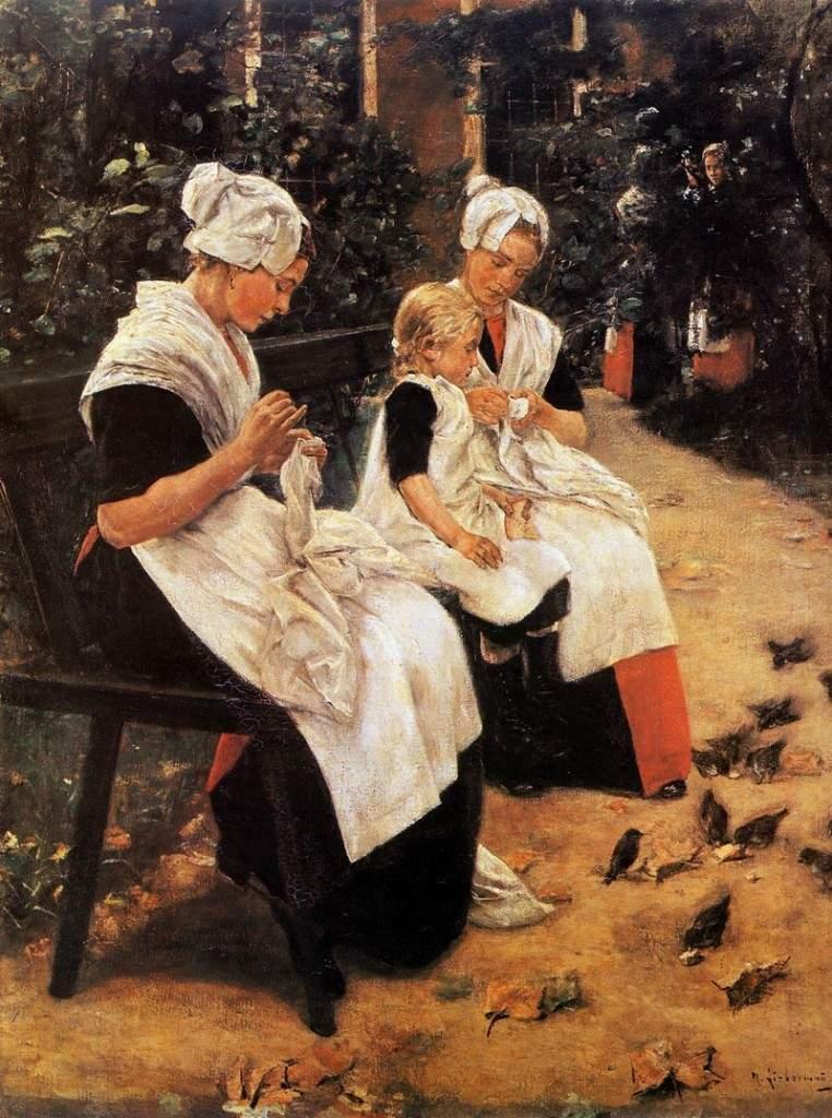 Amsterdam Orphans in the Garden 1885