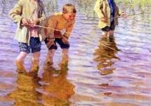 На послеполуденной рыбалке 1917