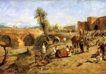 Arrival of a Caravan Outside The City of Morocco 1882