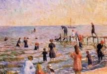 Bathing at Bellport, Long Island 1912