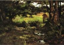 Brook in Woods 1887