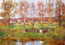 Cows by the Stream 1895