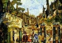 Эскиз декорации к «Видимой стороне жизни» Бенавенте 1912