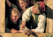 """""""Дети в окне"""" 1853"""