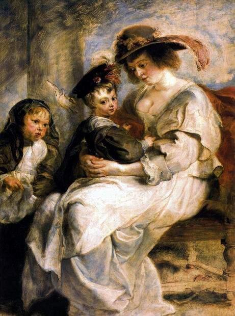 Елена Фоурмен с детьми, 1636-1637
