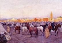 Encampment near a Moroccan Village 1888