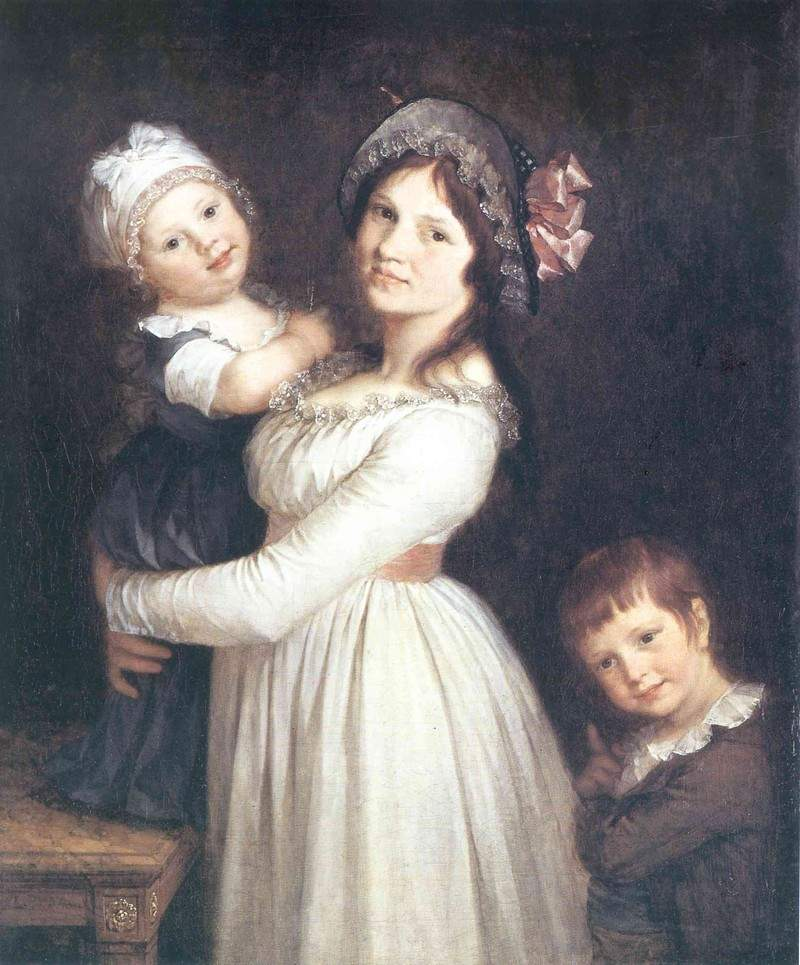 Family portrait of Madame Anthony and her children 1785