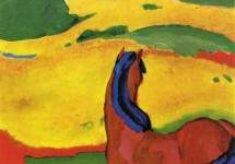 Horse in a landscape 1910