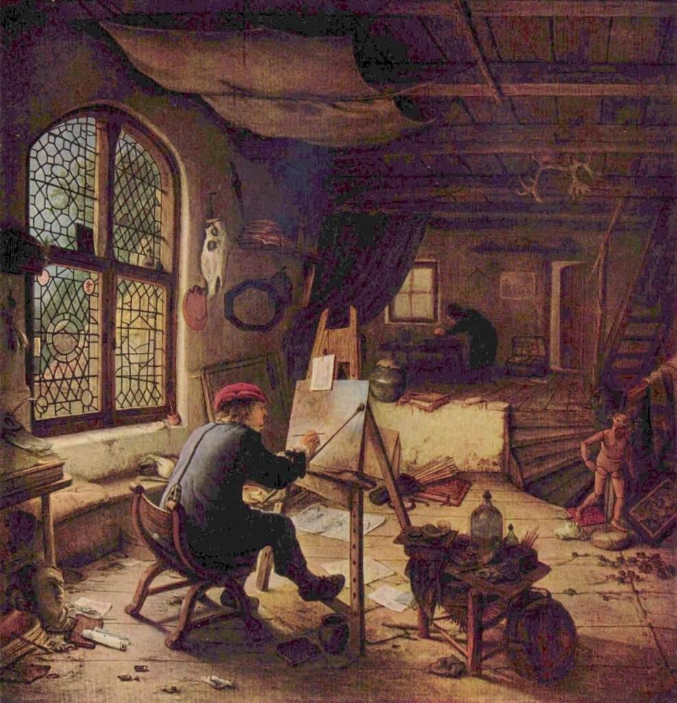 «Живописец в своей мастерской» 1663