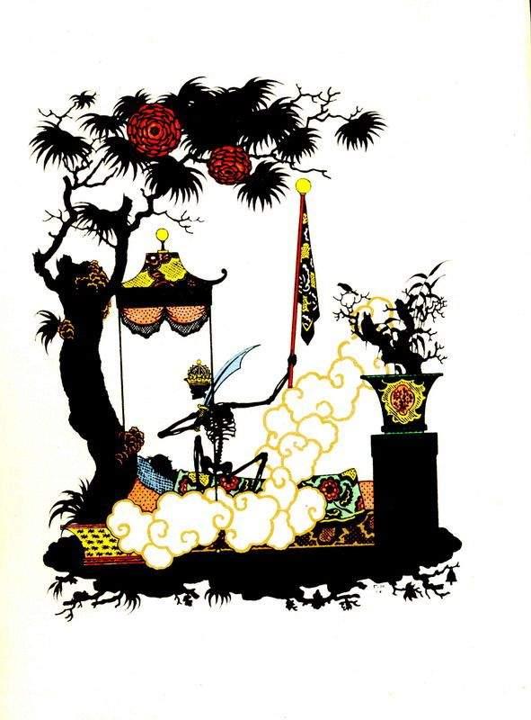 """Иллюстрация к рассказу Ганса Христиана Андерсена """"Соловей""""  1912"""
