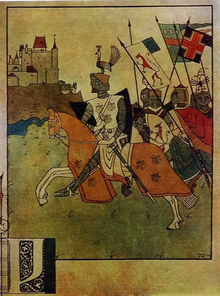 Иллюстрация к поэме «Песнь о Роланде» 1903
