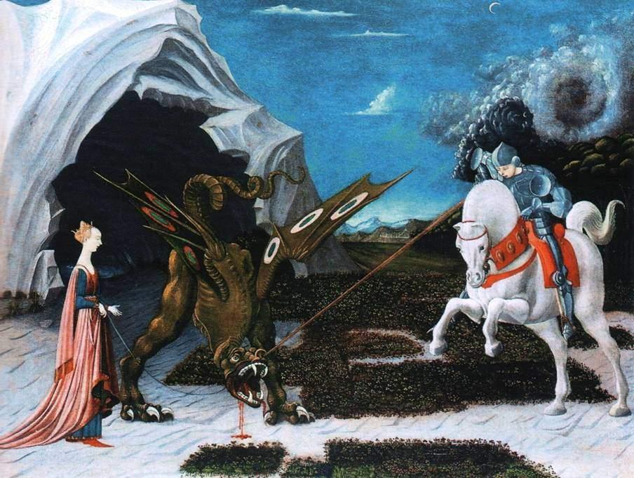 Святой Георгий, принцесса и дракон