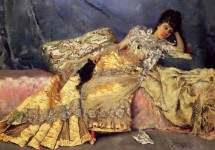Lady On A Pink Divan 1877