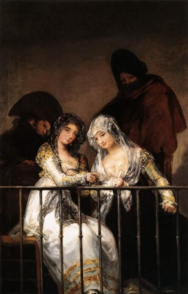 Махи на балконе. 1805-1812