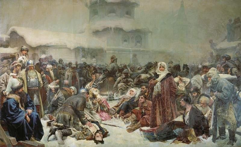 «Марфа Посадница. Уничтожение новгородского веча» 1889