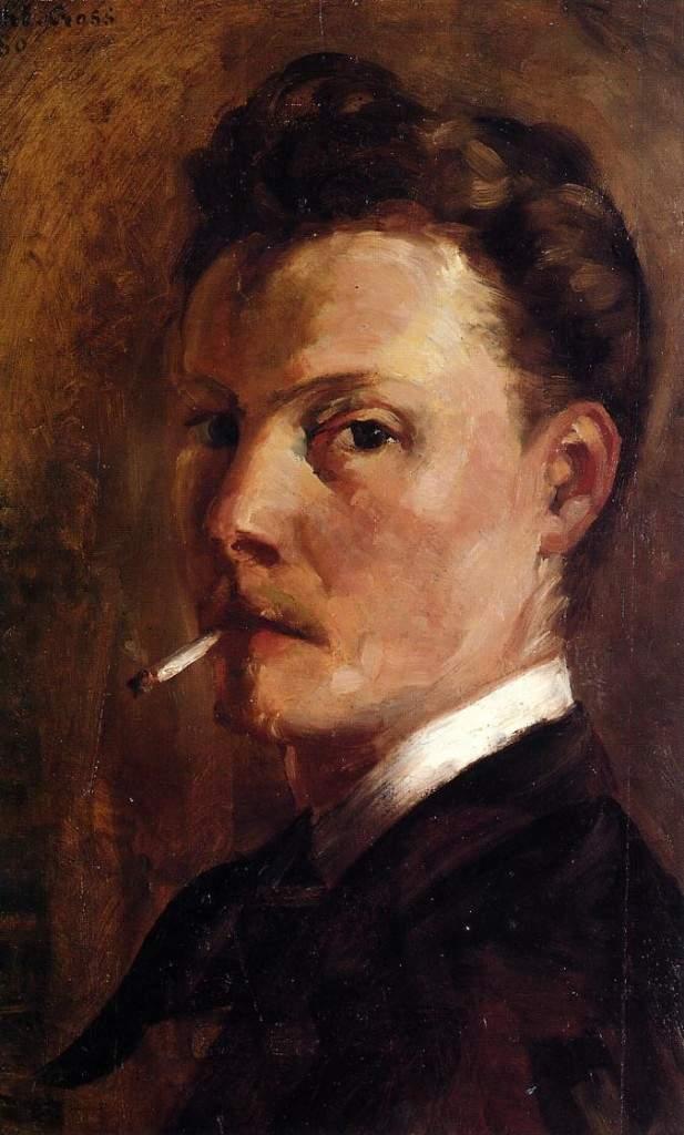 Self-Portrait with Cigarette 1880