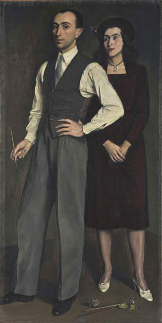 self-portrait-with-painter-s-wife-1943