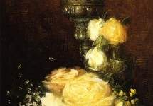 Silver Chalice with Roses 1882