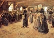 Spinning Workshop in Laren 1889