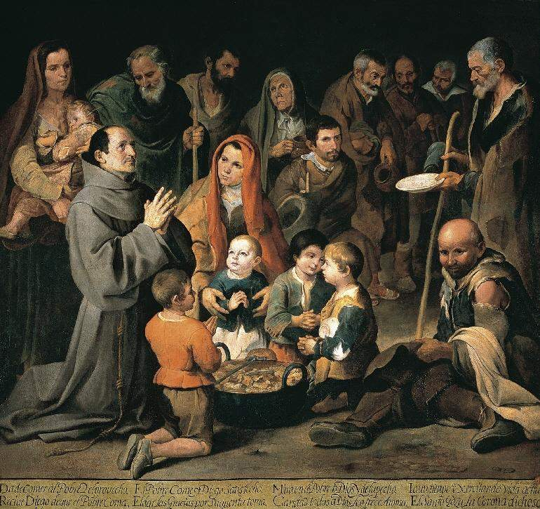 St. Diego Giving Alms 1646