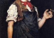 The Apprentice, aka Boy Smoking 1875